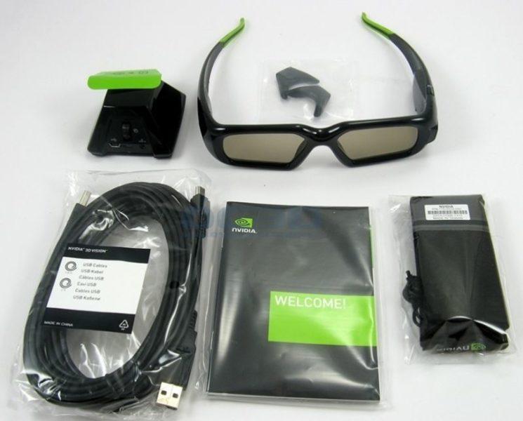 Occhiali 3D Asus e accessori inclusi nei monitor 3D