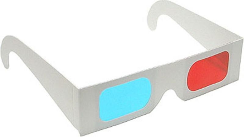 Occhiali 3d rossi e blu